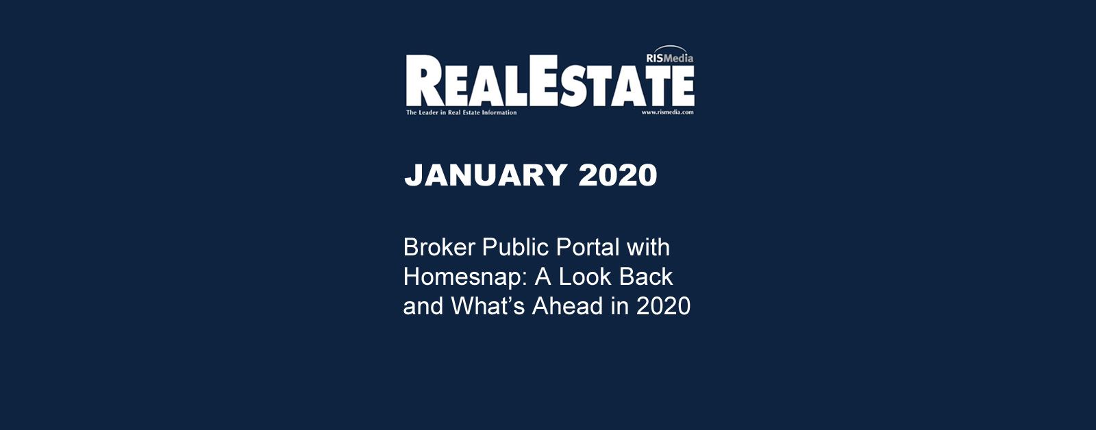 Real Estate Magazine Jan 2020